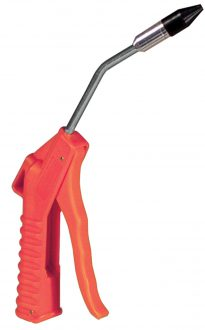4″ Air Blow Gun Orange 1/2″ Rubber Tip