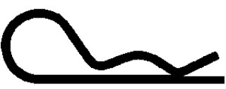 Hair Pin Cotter 1/16 – .062 Wire -Zinc 100pcs