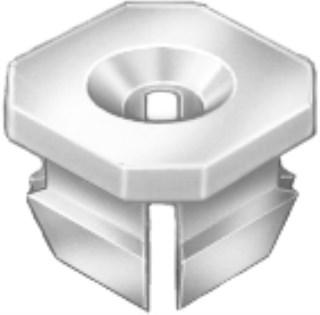 #8/#6 Screw Nylon Nut – GM 100 pcs.