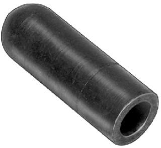 Rubber Vacuum Cap Black For 3/8 Dia. 25 pcs.