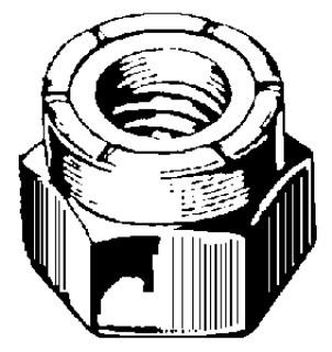 3/8-16 Nylon Insert Lock Nut 18-8 25 pcs.