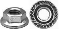 Spin Lock Nut w/ Serr. M6-1.0 Thread 17mm O.D. 100 pcs.