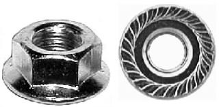 Spin Lock Nut w/ Serr. 3/8-16 3/4 Od 100 pcs.