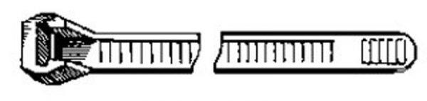 Black Nylon Cable Tie 11″ Length