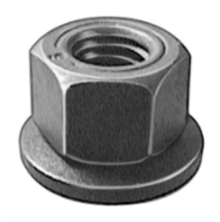 M6-1.0 Free Spinning Washer Nut 16mm Od 50 pcs.