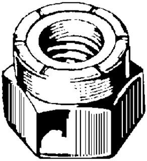 Nylon Insert Lock Nut 3/4-10 Uss Zinc 50pcs