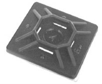 Cable Tie Mount With Adhesive Back 4-Way 10 pcs.