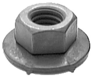 M6-1.0 Free Sping Wshr Nut 16mm O.D. 10mm Hex 50 pcs.