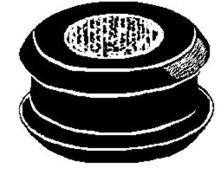 Rubber Grommet 5/16 Bore Dia 1 Od 25 pcs.