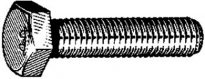 J.I.S. Metric Cap Screw M12-1.25 x 25 Zinc  10 pcs.