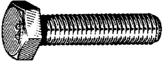 J.I.S. Metric Cap Screw. M12-1.25 x 20 Zinc 10 pcs.