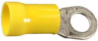 Vinyl Insulated Ring Terminal 4 Ga 3/8 Stud Yellow 10 pcs.
