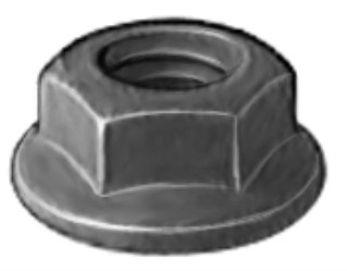 Hex Flange Nut M10-1.25 Thread 19mm Flange O.D. 50pcs