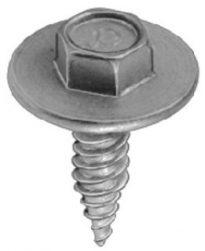 Hex Washer Head Tap Screw #14 x 7/8 Zinc 25 pcs.