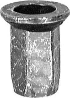 Ford Spec. Hex Nutsert M6-1.0 .5mm-4.2mm Grip 15 pcs.