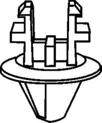 Ford Radiator Shroud Retainer 20mm Hd Dia 50 pcs.
