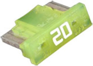 Low Profile Mini Fuses 20 amp 5 pcs.