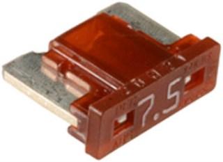 Low Profile Mini Fuses 7.5 amp 5 pcs.