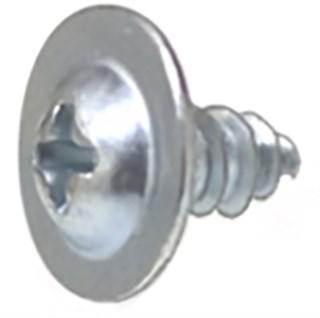 Phil Round Washer Head Zinc10 X 3/8 Tap Screw 100 pcs.