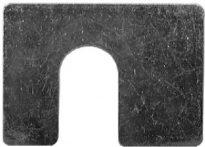 Shim 1-3/4 X 1-1/4 X 1/8 W/ 1/2 Slot Zinc 50 pcs.