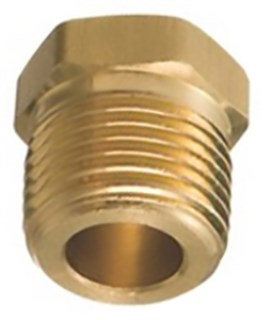 Brass Hex Head Plug 1/2 Pipe Thread 5 pcs.
