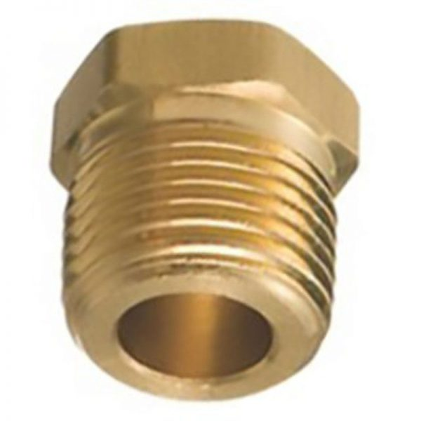 Brass Hex Head Plug 3/8 Pipe Thread 5 pcs.