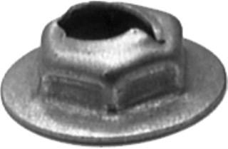 Thread Cutting Nut 1/4 Stud Size 11/16 Washer Dia. 200 pcs.