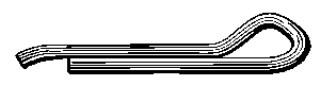 1/4 X 2 1/2 HAMMER LOCK COTTER PIN ZINC 100pcs
