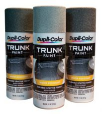 Black and Aqua Trunk Paint