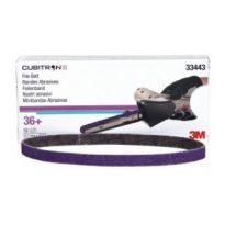 1/2″x18″ 36 Grit File Belt Cubitron II Box/10