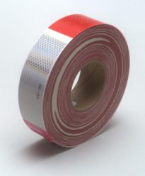 Red/White Conspicuity Tape 2″ x 150′ Roll