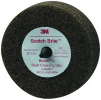 4″ Rivet Cleaning Disc Brown Medium