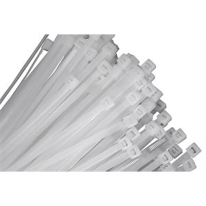 Cable Tie 7″ White 100 pcs.